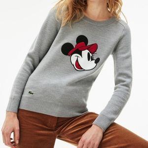 Disney x Lacoste   Minnie Mouse Crew Neck Sweater